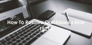 How To Resolve Quickbooks Error 15215